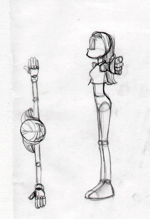 Jackie`s 3D model sketch